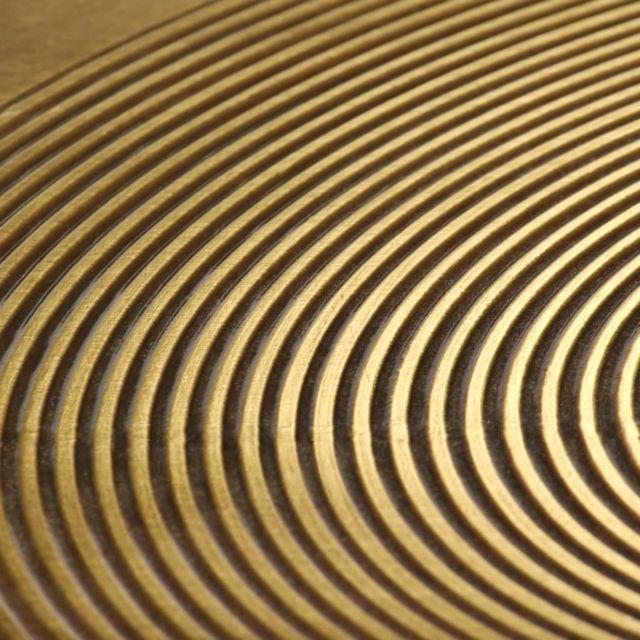 ICAVERNE Bouts de canapé categorie Ensemble de tables 2 pcs MDF recouvert de laiton