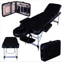 Massage Imperial - Buckingham Table de Massage Léger De Luxe en Aluminum - Noir