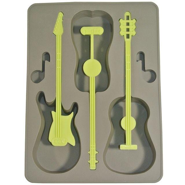 Promobo Moule Bac à Glaçons Silicone Deco Fun Guitare Gris