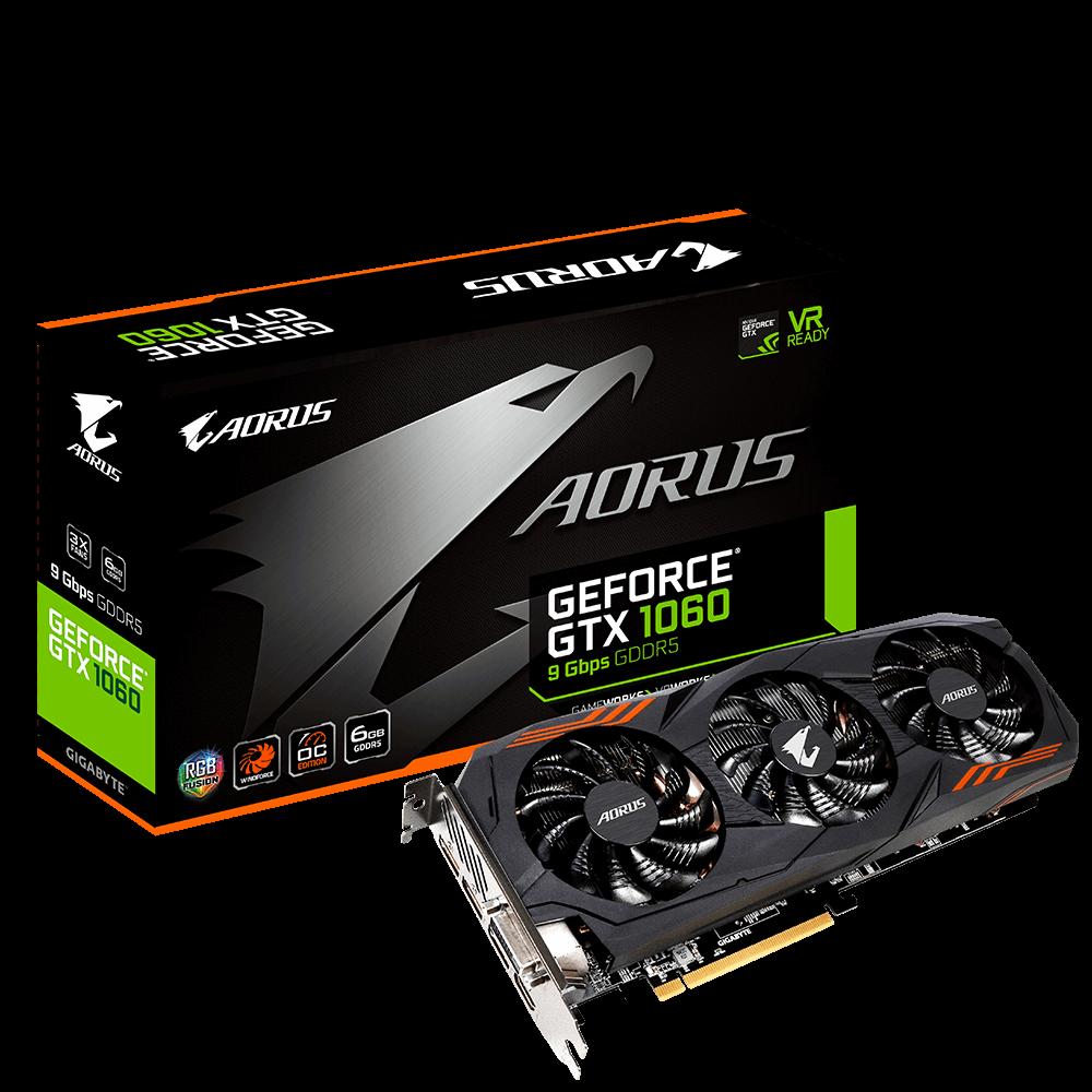 GeForce GTX 1060 AORUS 6 Go