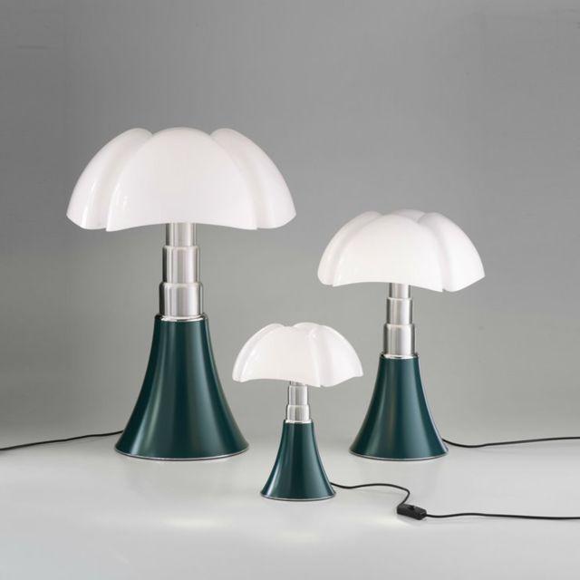 Martinelli Luce Pipistrello-lampe ampoules Led pied télescopique H66-86cm Vert Agave - designé par Gae Aulenti