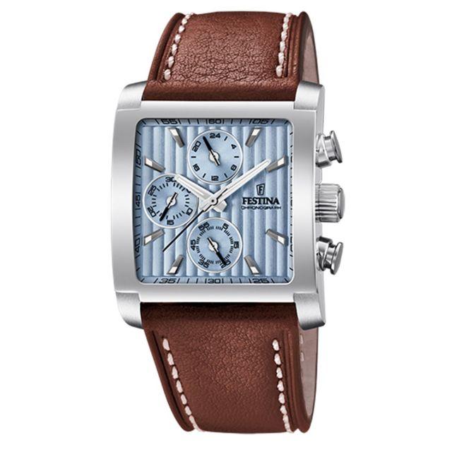 montre femme carree bracelet cuir
