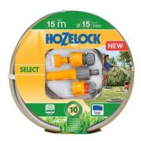 HOZELOCK - SELECT - Tuyau batterie - Kit tuyau d'arrosage + lance et connecteurs - 6115