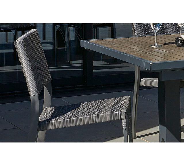 Dcb Garden Chaise aluminium et résine tressée gris anthracite