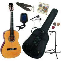Msa - Pack Guitare Classique 3/4 8-13ans, Pour Enfant Avec 7 Accessoires nature