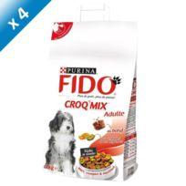 Purina - Fido Croquettes mix au boeuf - Pour chien adulte - 4kg x4