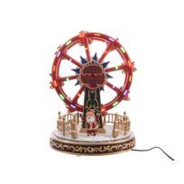 Decoris - Grande roue Père Noël lumineux Led 26.4x21x21cm Camp