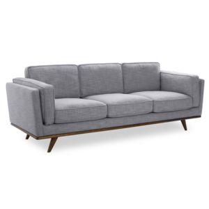 alin a astoria canap 3 places fixe en tissu gris chin clair achat vente canap s tissu pas. Black Bedroom Furniture Sets. Home Design Ideas