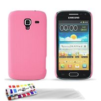 "Muzzano - Coque Rigide Ultra-Slim ""Le Pika"" Premium Rose pour Samsung Galaxy Ace 2 + 3 Films de protection ?cran"