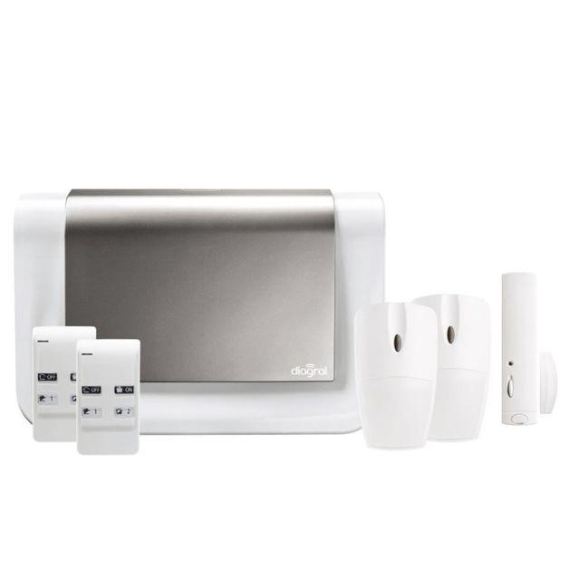 diagral diag05bsf alarme sans fil animaux nf a2p avec transmetteur gsm pas cher achat. Black Bedroom Furniture Sets. Home Design Ideas