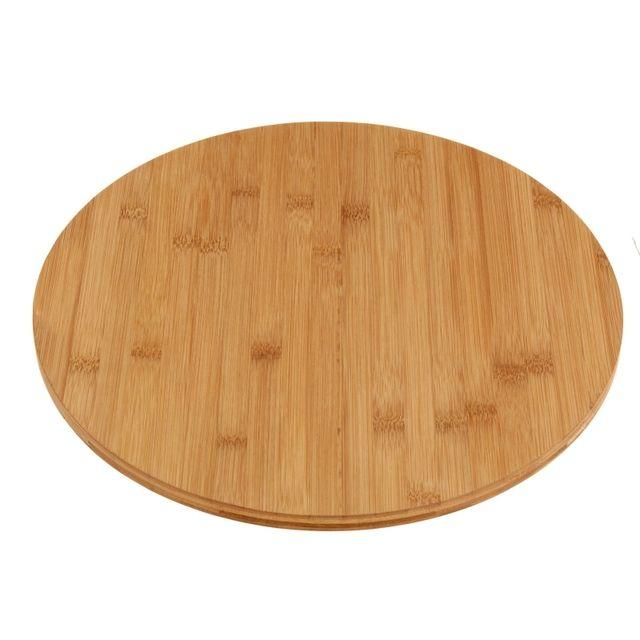 plateau de service tournant bois rond pas cher achat vente plateau rueducommerce. Black Bedroom Furniture Sets. Home Design Ideas