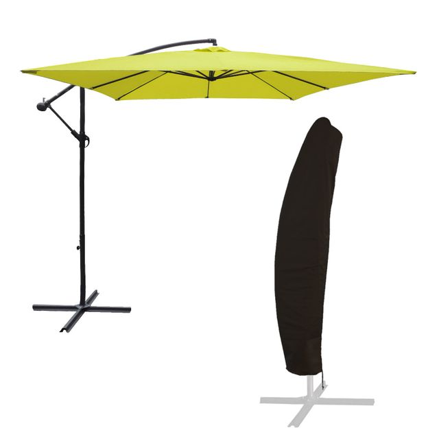 Happy Garden Parasol d/éport/é Molokai rectangulaire 3x4m Beige