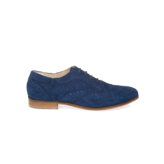 Peperosa Femme N7101NAVY Bleu SuÈDE Chaussures À Lacets