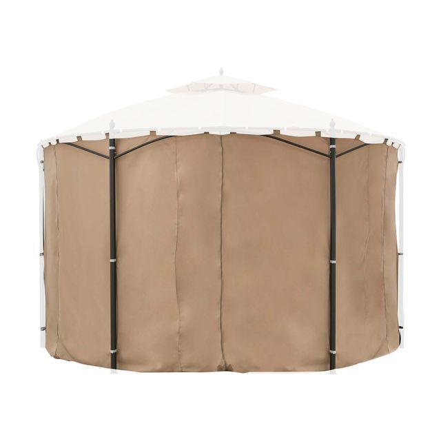Hesperide jeu de 6 rideaux pour la tonnelle iloha Ø 360 m sable