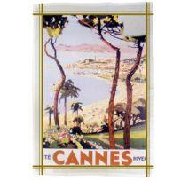 Editions Club Pom - Torchon de cuisine rectangulaire en coton Cannes Peri