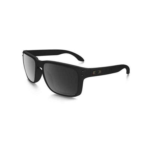 9e26b710f00a94 Oakley - Lunettes Holbrook noir mat avec verres Prizm Black Polarized - pas  cher Achat   Vente Lunettes - RueDuCommerce