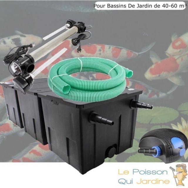 Le Poisson Qui Jardine Kit Filtration Uv 110 W, Acier Inoxydable, Bassin de Jardin: 40-60 m Option : Pack Bactéries & Activateur Biologique - S