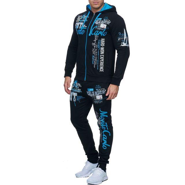 Monsieurmode - Survêtement sportswear pour homme Survêt 683 noir et  Turquoise 66722e543ae