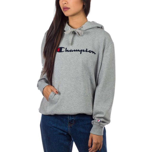 Pas Vente Hooded Gris Cher Sweat Champion Sweatshirt Achat nwkZ80OPXN