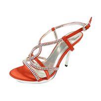 Chaussmaro - Chaussures de mariage ouvertes a talons hauts et strass