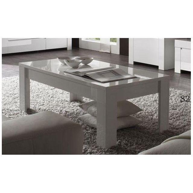 Kasalinea Table basse blanc laqué design Paula