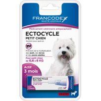 Francodex - Ectocycle Petit Chien de 0,6 kg à 6 kg, 1 pipette 0,6 ml