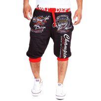 Cincjeans - Bermuda homme fashion Short 3411 gris foncé et Rouge