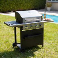 Marque Generique - Barbecue à gaz 4 brûleurs 16 Kw + 1 Réchaud sur chariot Virila
