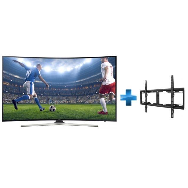 Samsung - TV LED 55'' 139 cm UE55MU6272UXXH + Support mural fixe pour TV de 32 à 84'' 81-213cm