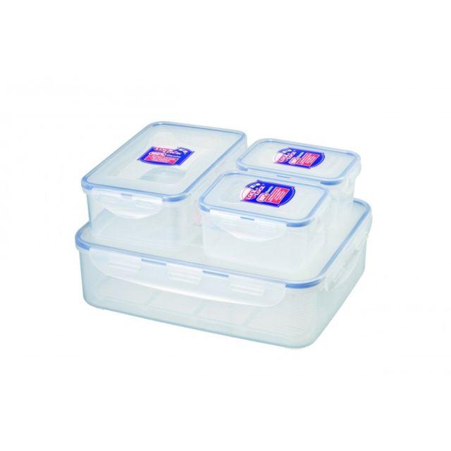 Lock & Lock 4 boîtes alimentaires sans Bisphénol A