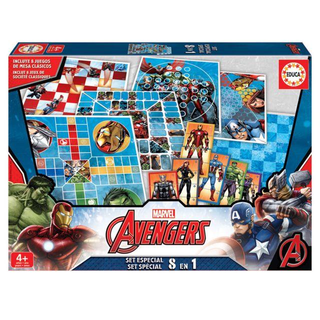 Educa - 8 Jeux en 1 : Avengers