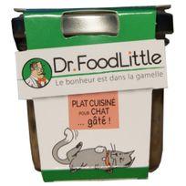 Dr Foodlittle - Plat cuisiné pour Chat au Saumon - 80g