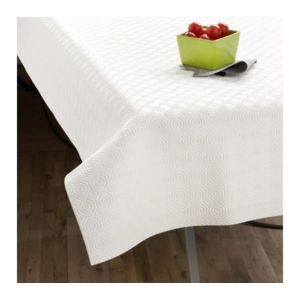 Tex home prot ge table rectangulaire blanc pas cher achat vente nappes rueducommerce - Protege table rectangulaire ...