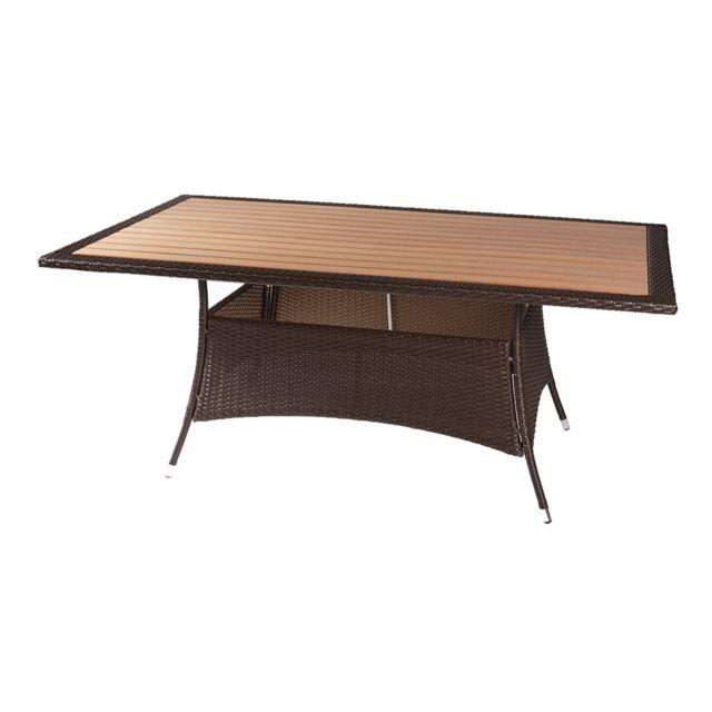 Rotin Design - Table Miami Rectangulaire - Jardin - couleur ...