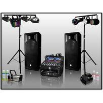 Bm Sonic - Pack Sono Dj 1600 W avec jeux de lumière et effets