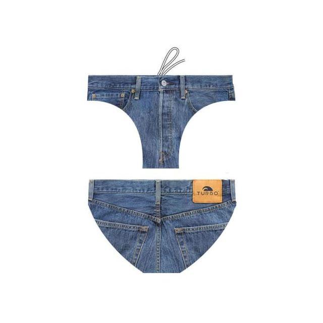 2f517f7a67b3 Turbo - Maillot de water-polo Jeans - pas cher Achat   Vente Maillots de  bain - RueDuCommerce