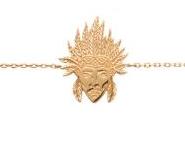 Collection Zanzybar - Collier tête dâ Indien en plaqué or, Collection Arizona