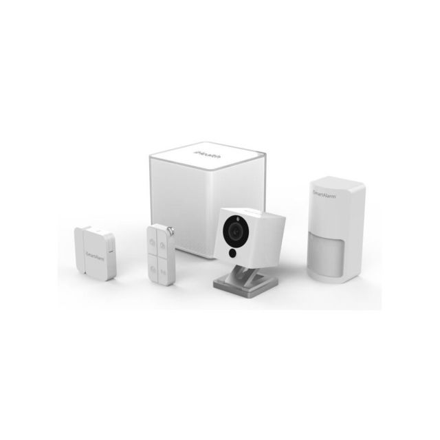 ismartalarm essential pack alarme maison sans fil avec cam ra de vid osurveillance isa2g pas. Black Bedroom Furniture Sets. Home Design Ideas
