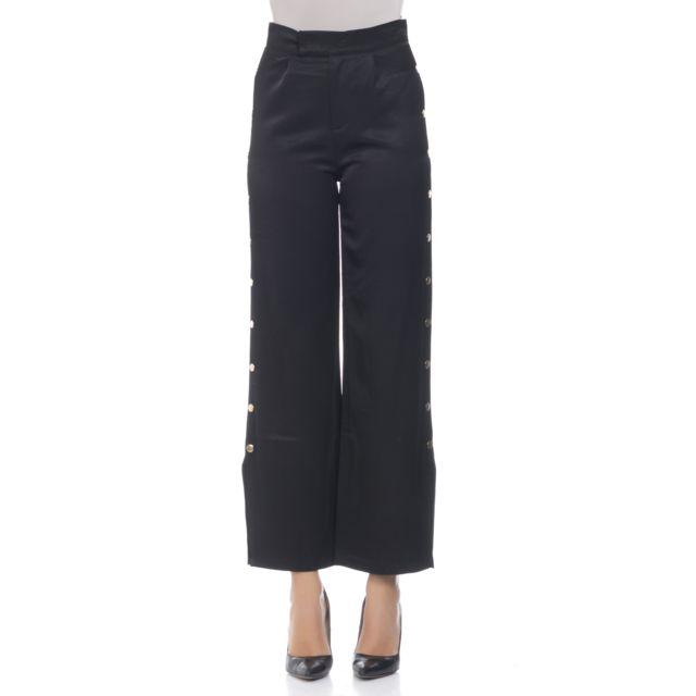 Fantaisie Pas Pantalon Tantra Cher Noir Boutons Achat Satiné dxpSXSt