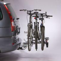 Mottez - Porte-vélo plateforme, basculable sur attelage 3 vélos A007P3RA, fixation sur boule d'attelage