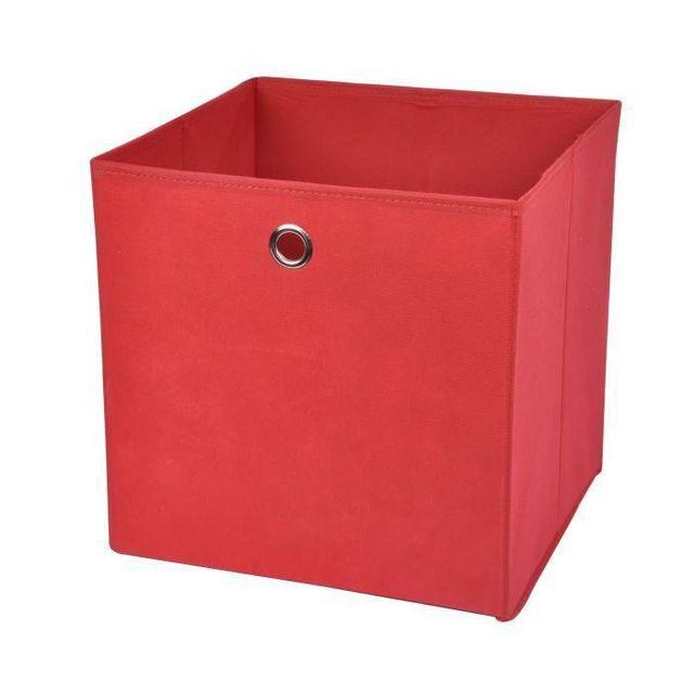 6f7c849f21ab72 No Name - Homea Panier de rangement intissé 31x29x31 cm rouge - pas ...