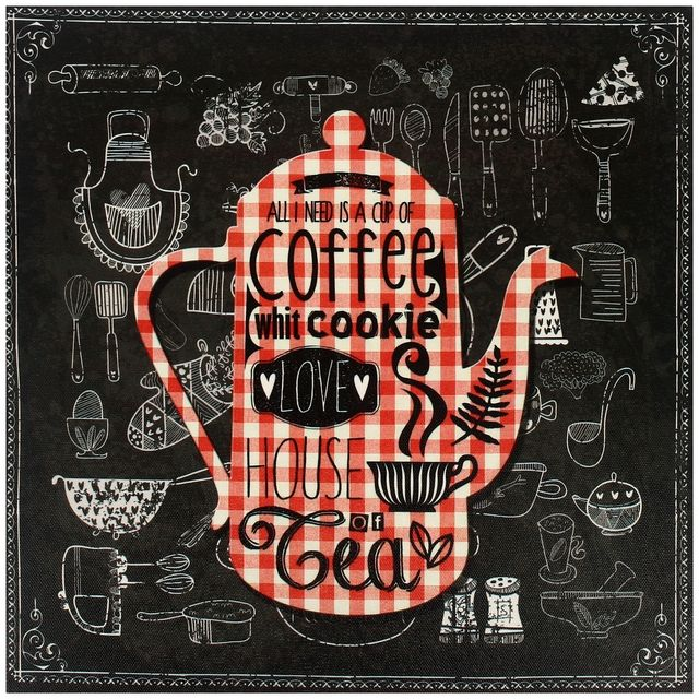 Promobo Tableau Deco Bistrot Cadre Retro Coffee Cookie
