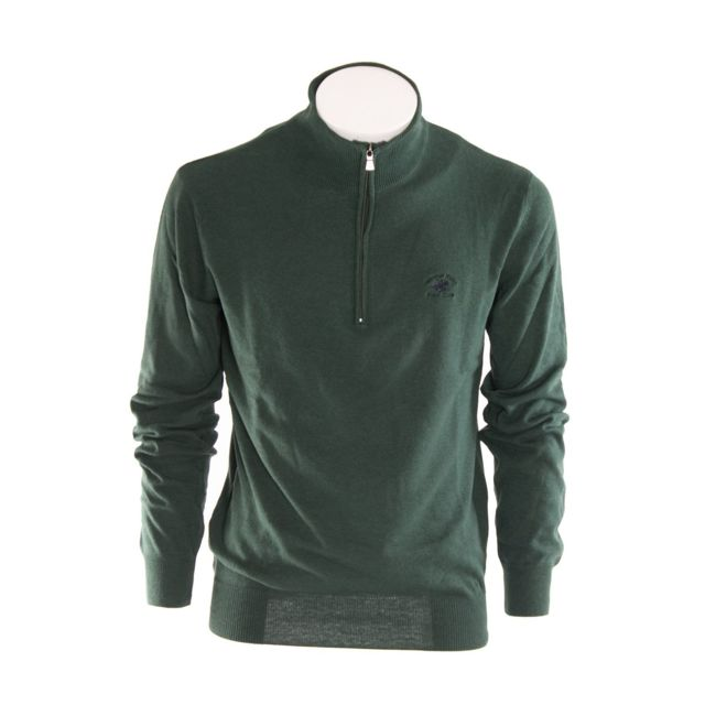 Beverly Hills Polo Club Homme Bhpc2261GREEN Vert Laine Maille