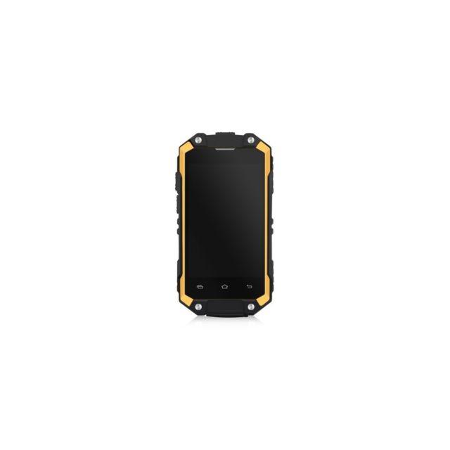 Auto-hightech Smartphone étanche 2,45 pouces avec Android 5.1, Quad Core, 3G et 8 Go de Rom - Orange