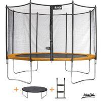 Kangui - Pack trampoline Funni Pop 366 avec échelle + couverture