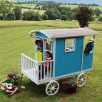 Soulet - Roulotte pour enfant en bois brut à peindre , Carry