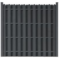 Vidaxl - Panneau de clôture Wpc carré Gris