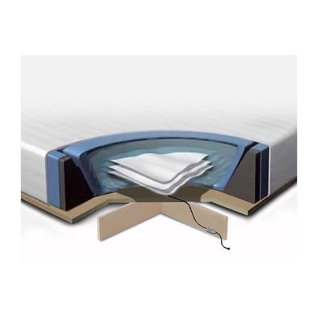 Beliani Kit complet pour lit à eau 180x200 cm - Matelas à eau - cadre en mousse - housse - 2 x chauffages - podium - conditionne