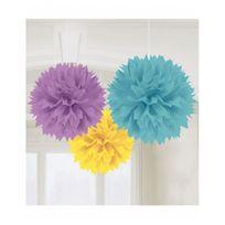 Amscan - Boules de décoration pastel x3