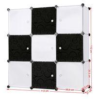 Rocambolesk - Superbe Armoire Penderie Cubes Etagère Modulables Plastiques Cadre en Métal Blanc Lpc33W neuf